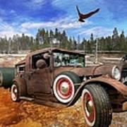 Cool Rusty Classic Ride Art Print