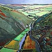 Coombe Valley Gate, Exmoor, 2009 Acrylic On Canvas Art Print