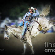 Cooper Rodeo Bronc Rider Art Print