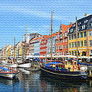 Copenhagen Denmark Nyhavn District Art Print