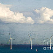 Copenhagen Wind Turbines Art Print