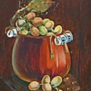 Copper Kettle Of Grapes Art Print