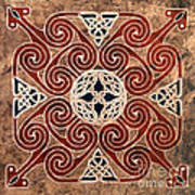 Copper Knot Art Print