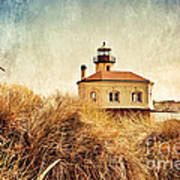 Coquille River Lighthouse - Texture Art Print