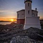 Coquille River Lighthouse Sunset Art Print