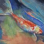 Coral And Moonstone Art Print by Michael Creese