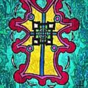 Coral Cross Art Print