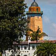 Coral Gables House And Water Tower Art Print