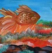 Coral Land Goldfish Art Print