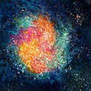 Coral Nebula Art Print