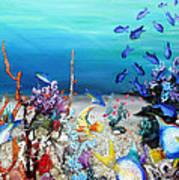 Coral Reef Blues  Art Print