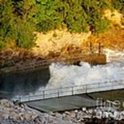 Coralville Dam At Capacity Art Print