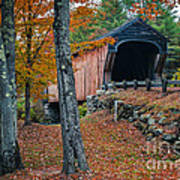 Corbin Covered Bridge Newport New Hampshire Art Print by Edward Fielding