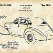 Cord Automobile Patent 1934 - Vintage Art Print