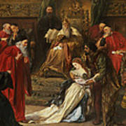 Cordelia In The Court Of King Lear, 1873 Art Print