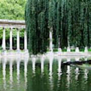 Corinthian Colonnade And Pond Art Print