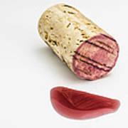 Cork With Red Wine Art Print