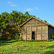 Corncrib In Afternoon Light Art Print