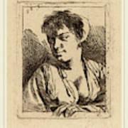 Cornelis Bega Dutch, 1631-1632-1664, Bust Of A Young Woman Art Print