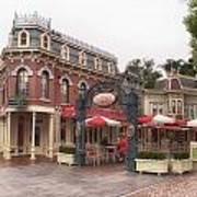 Corner Cafe Main Street Disneyland 02 Art Print