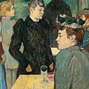 Corner Of Moulin De La Galette Art Print by Henri de Toulouse Lautrec