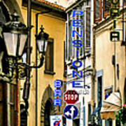 Corner Of Pensione And Bar Art Print