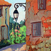 Street Corner In St. Colombe Art Print