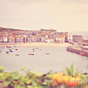 Cornish Harbour Art Print