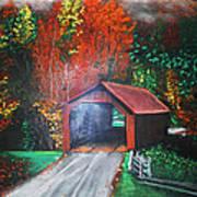 Cornwall Covered Bridge Art Print