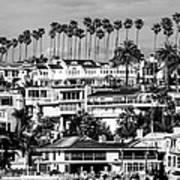 Corona Del Mar California Black And White Picture Art Print