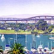 Coronado Bay Bridge Art Print
