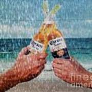 Coronas In The Rain Art Print