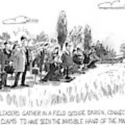 Corporate Leaders Gather In A Field Art Print