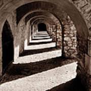 Corridors Of Stone Art Print
