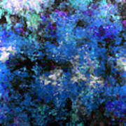 Corrosion Bleue Art Print