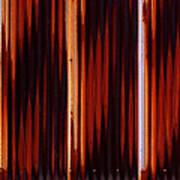 Corrugated Patterns In Orange And Black Art Print