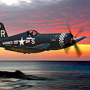 Corsair At Sundown Art Print