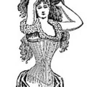 Corset Advertisement  1897 Art Print