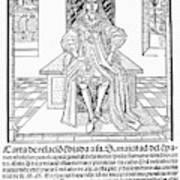 Cortes Letter, 1522 Art Print
