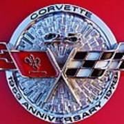 Corvette 25th Anniversary Emblem 1 Art Print