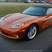 Corvette At Speed . . . . .  Art Print