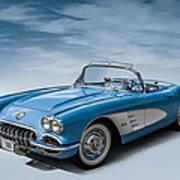 Corvette Blues Art Print