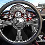 Corvette C1 - In The Driver's Seat Art Print