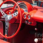 Corvette Dashboard Art Print