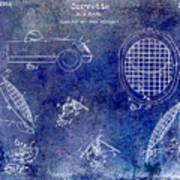 Corvette Headlight Patent Art Print