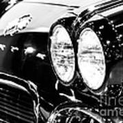 Corvette Picture - Black And White C1 First Generation Art Print