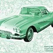 Corvette Sports Car Catus 1 No 3 Art Print