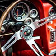 Corvette Steering Wheel Art Print