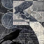 Corvus Star Chart Art Print by Carol Leigh