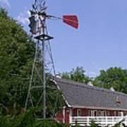 Cosley Zoo Windmill And Barn Art Print